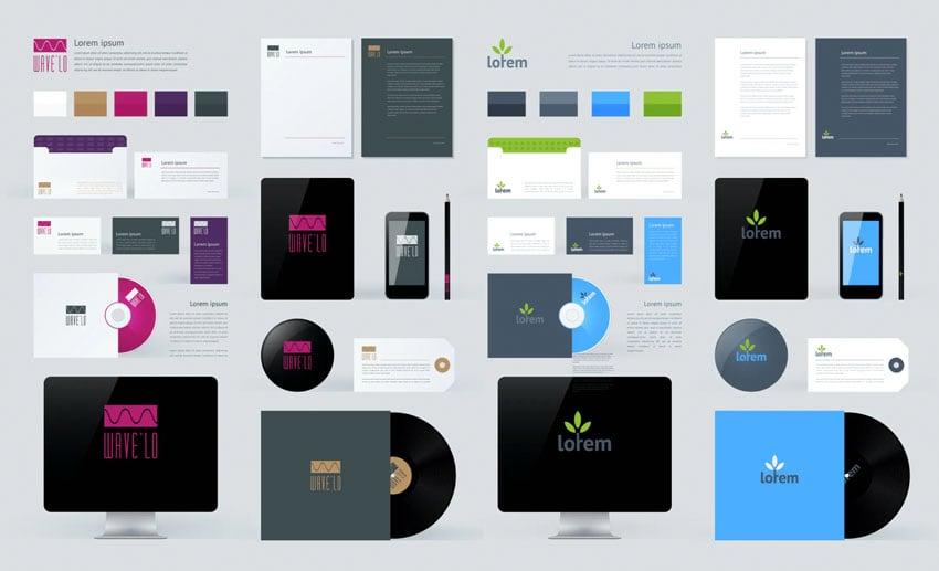 Stationery & Branding Affinity Designer Mockup Templates