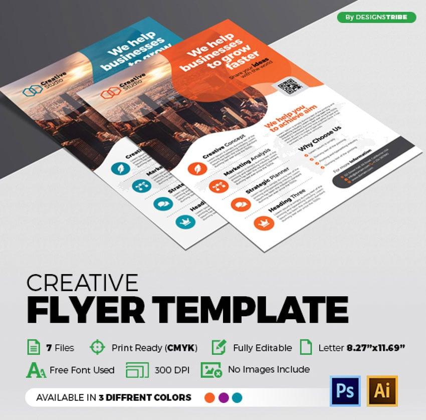 Colorful Affinity Designer Flyer Template