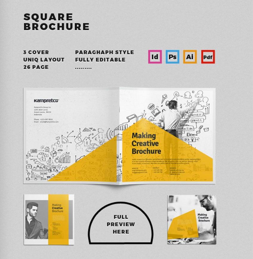 Square Affinity Designer Brochure Templates