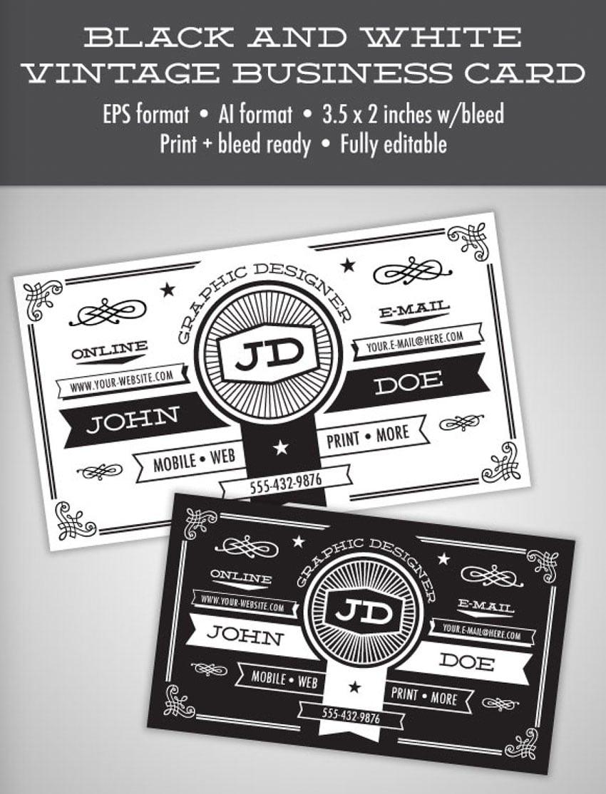 Vintage Business Card Template Affinity Designer
