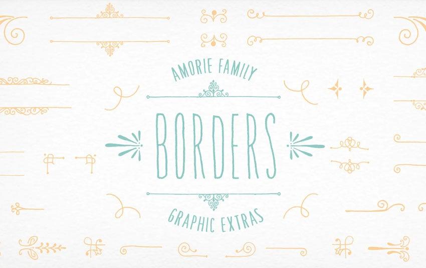 Amorie Font Elements - Borders