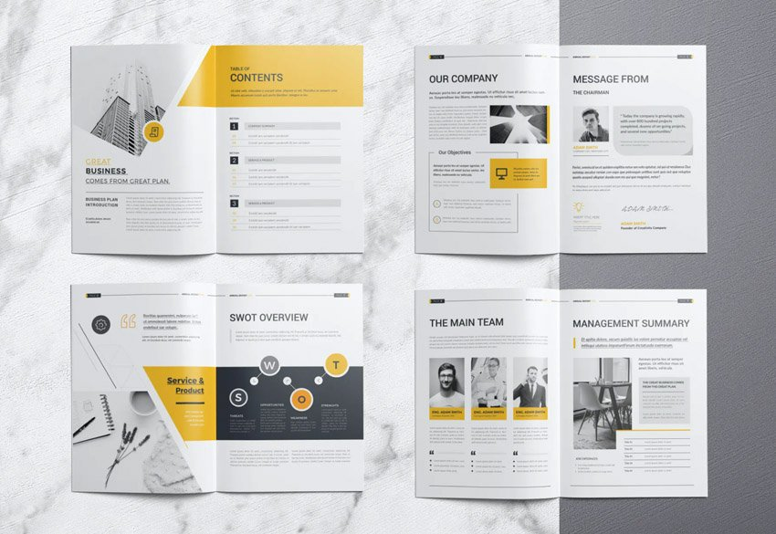 annual report word document