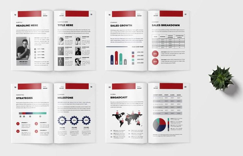 consistent annual report design