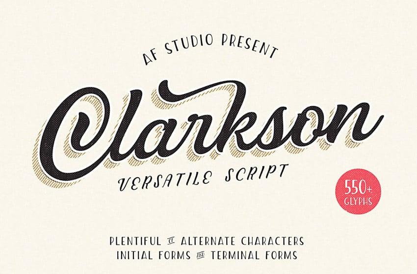 Clarkson (Popular Script Fonts for Tattoos)