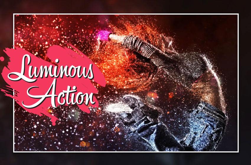 Luminous GIF Animated CS4+ Photoshop Action