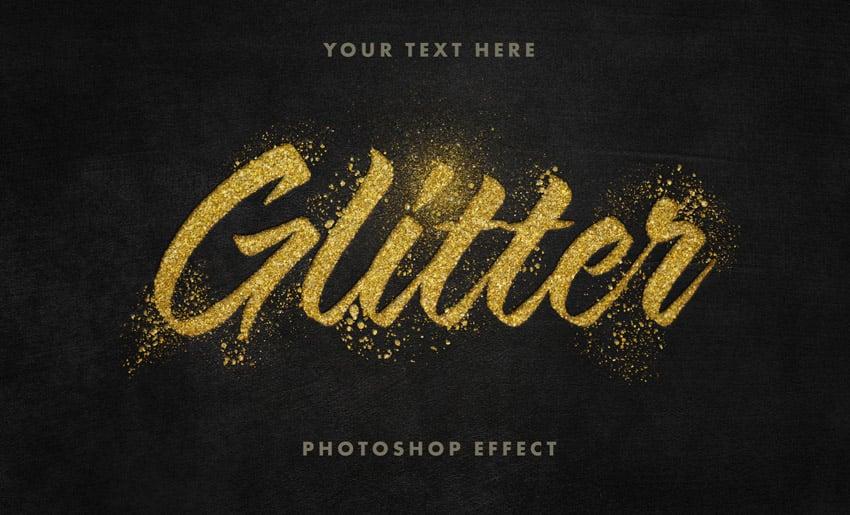 Golden Glitter Text Effect