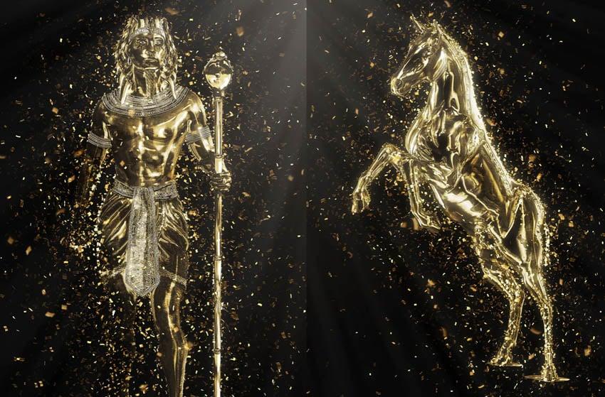 Gold Confetti Photoshop Action
