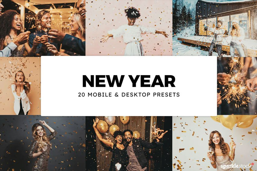 20 New Year Lightroom Presets & LUTs