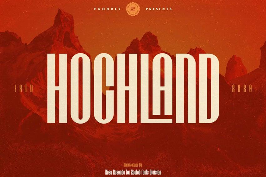 HOCHLAND Font