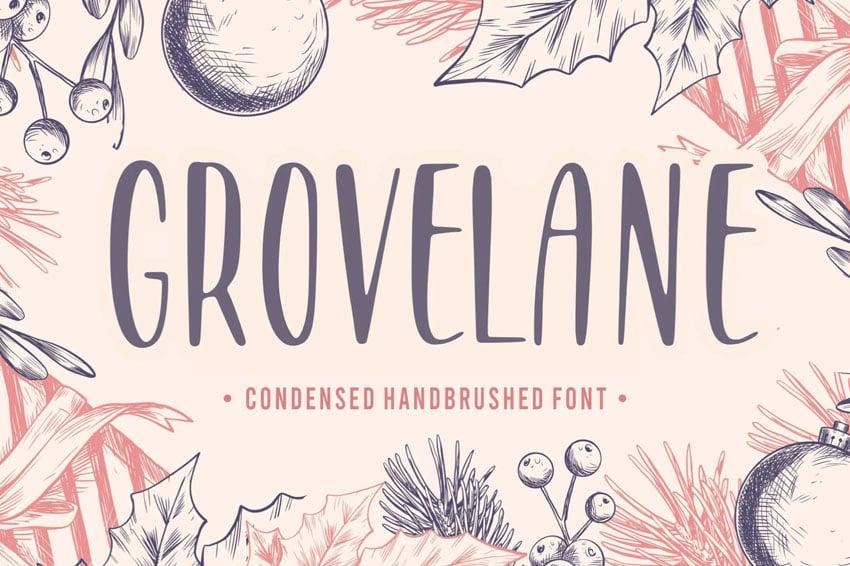 Grovelane Brush Font