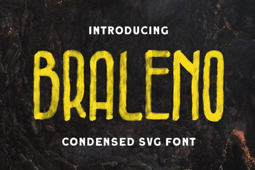 Braleno - Condensed SVG Font