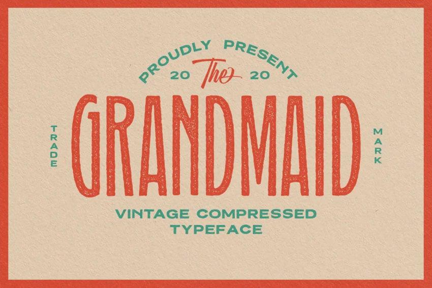 Grandmaid Condensed Typeface