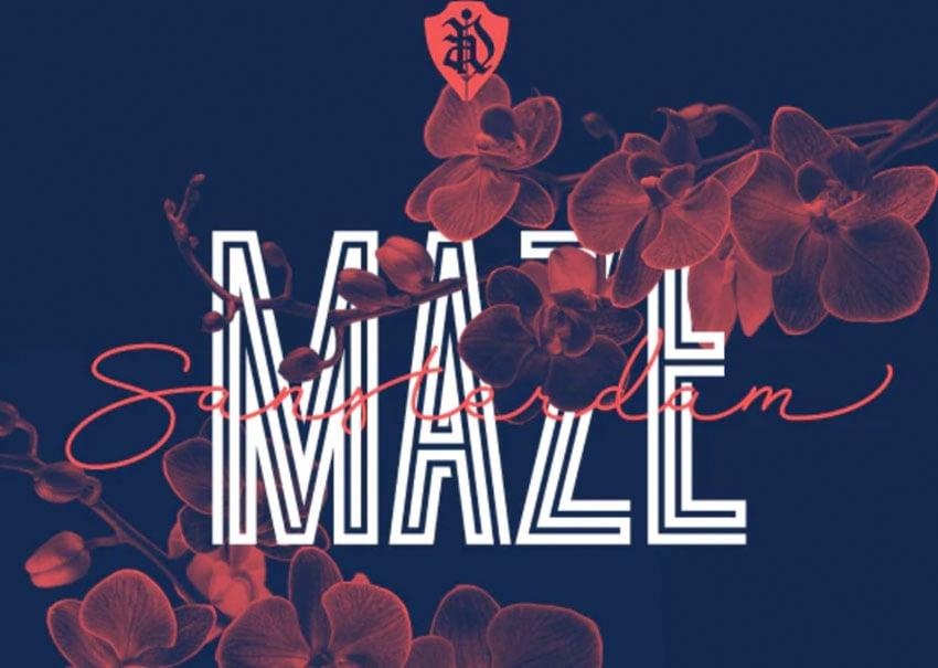 Sansterdam Maze Geometric Condensed Font