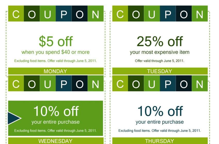 microsoft word coupons