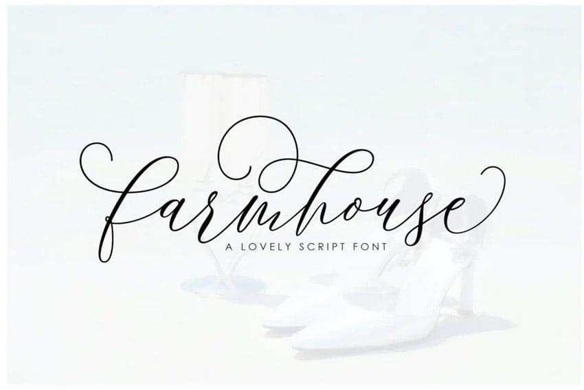 Farmhouse Calligraphy Font
