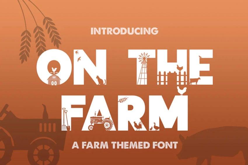 On the farm font