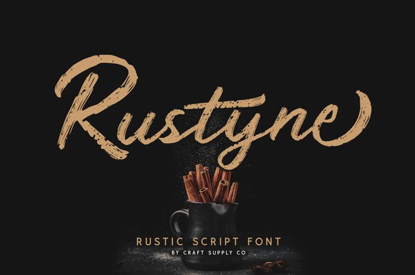 Rustyne Rustic Script Font