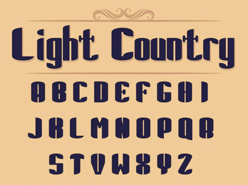 Light Country Font