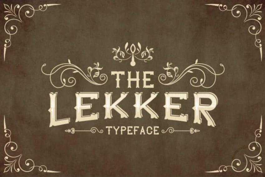 The Lekker Vintage Sans