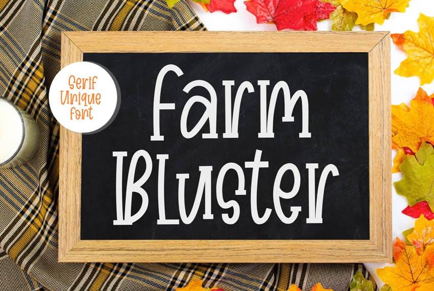 Farm Bluster Font