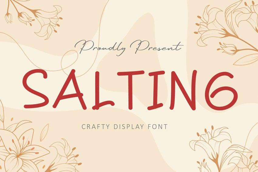 Salting Friendly Instagram Font