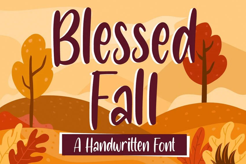 Blessed Fall Handwriting Font