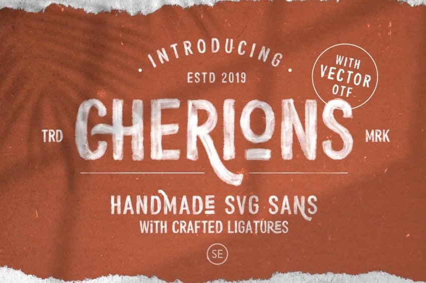 Cherions SVG Sans Serif Font