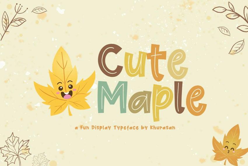 Cute Maple Fall Font