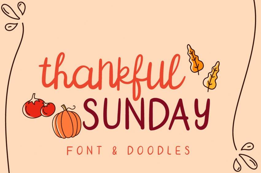 Thankful Sunday Font Duo