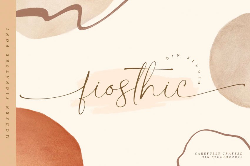 Fiosthic Modern Signature Font