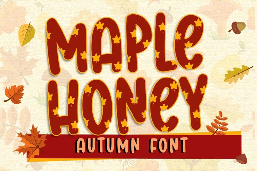Maple Honey Autumn Fall Font