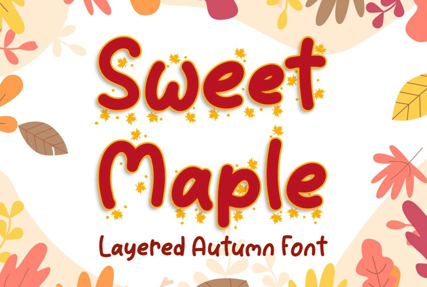 Sweet Maple Fall Lettering Font