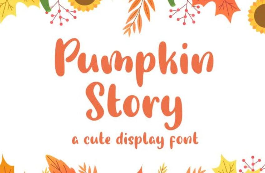 Pumpkin Story Cute Display Font
