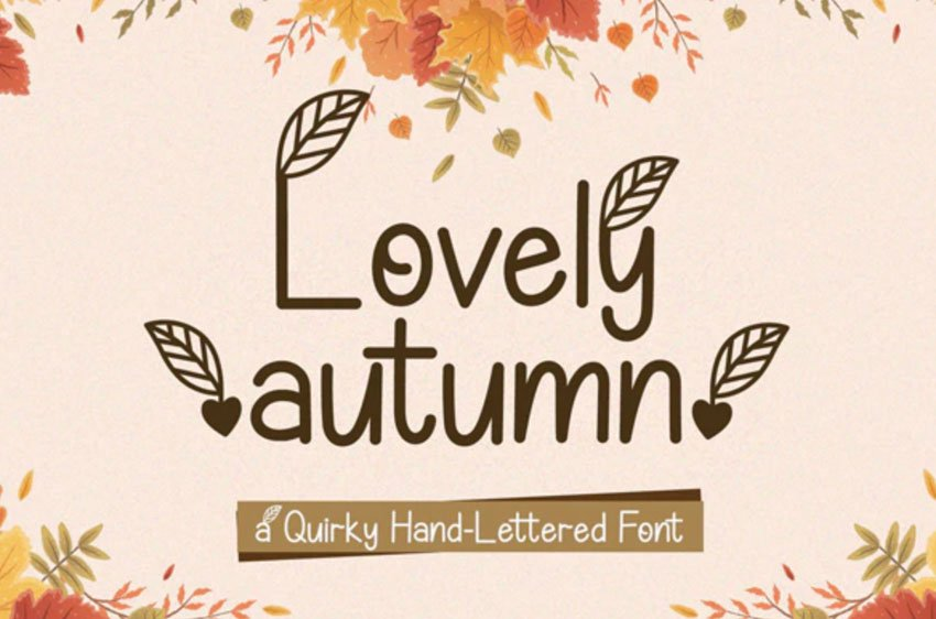 Lovely Autumn Quirky Fall Font Alphabet