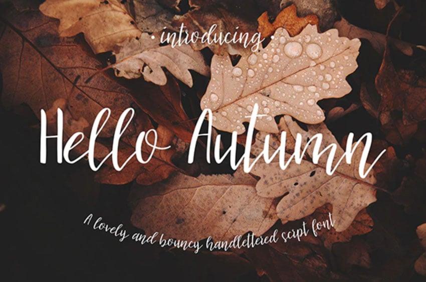 Hello Autumn Script Font