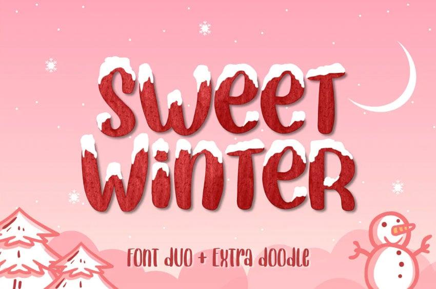 Sweet Winter Snow Font