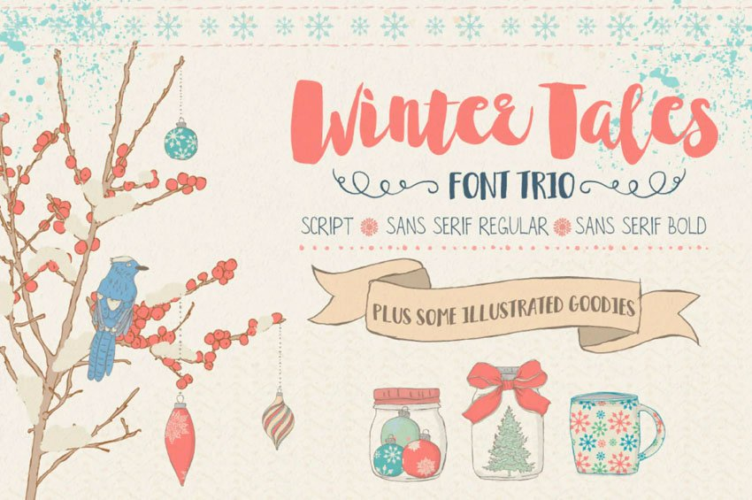 Winter Tales Font Trio with Extras