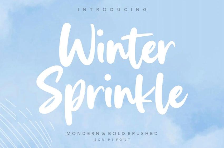 Winter Sprinkle Script Font