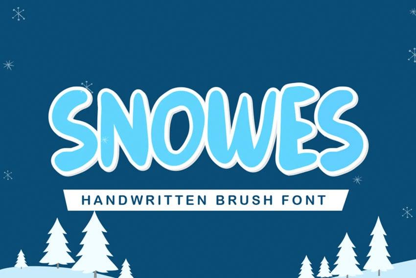 Snowes Frost Font