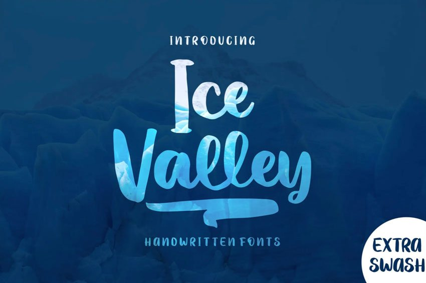 Ice Valley Winter Icicle Font