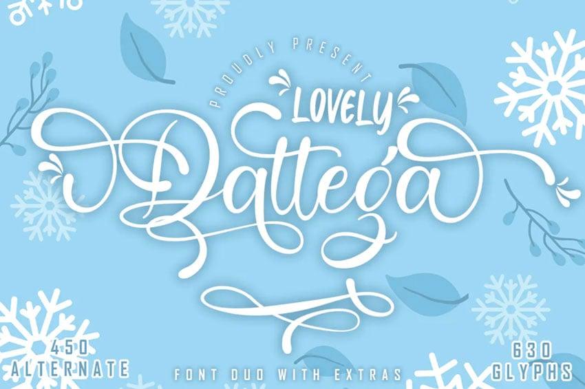 Lovely Dattega Font Duo