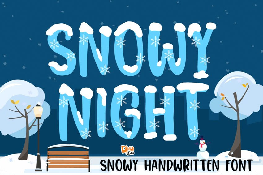 Snowy Night Magic Winter Font