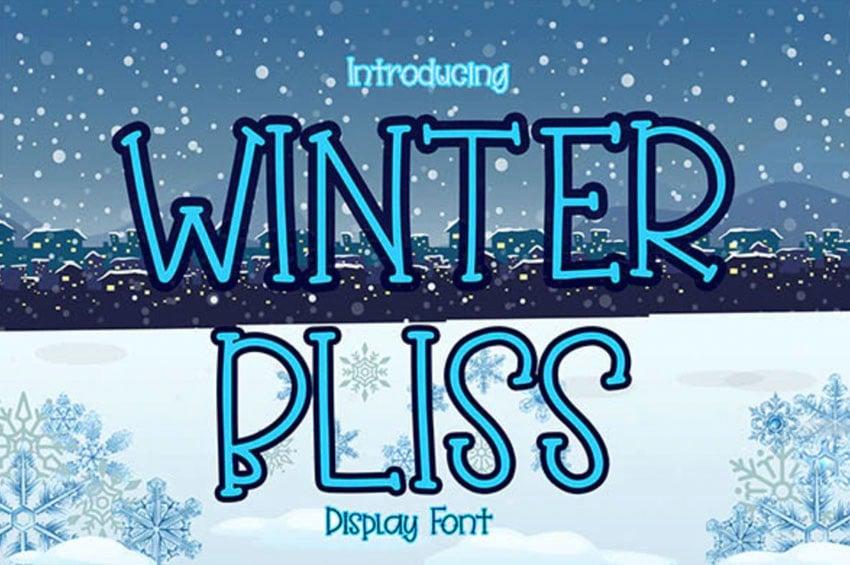 Winter Bliss Cute Display Font