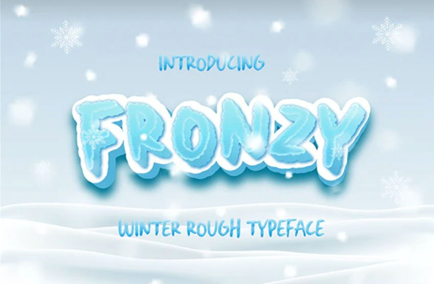 Fronzy Textured Icicle Font
