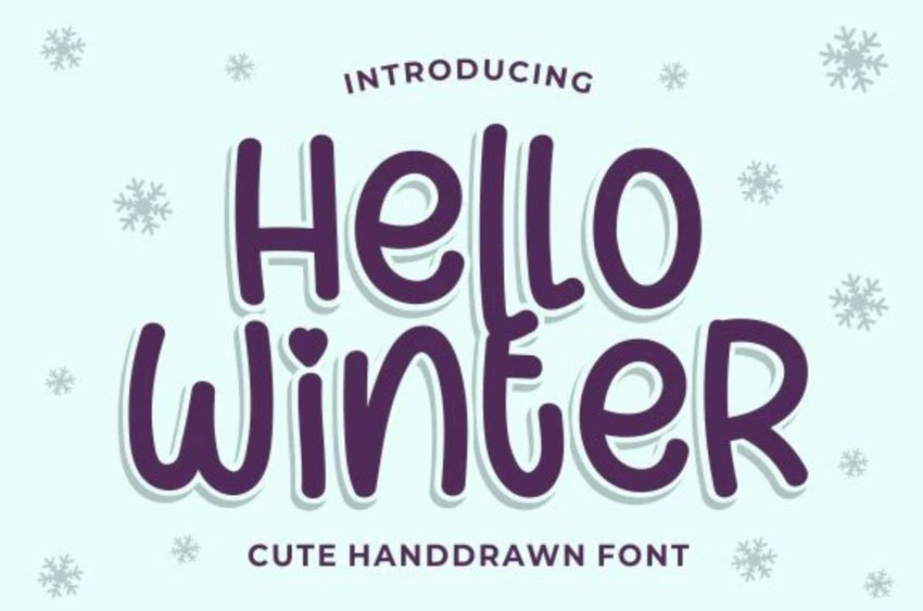 Hello Winter Lettering Font