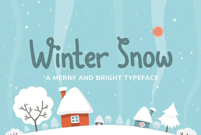 Winter Snow Font