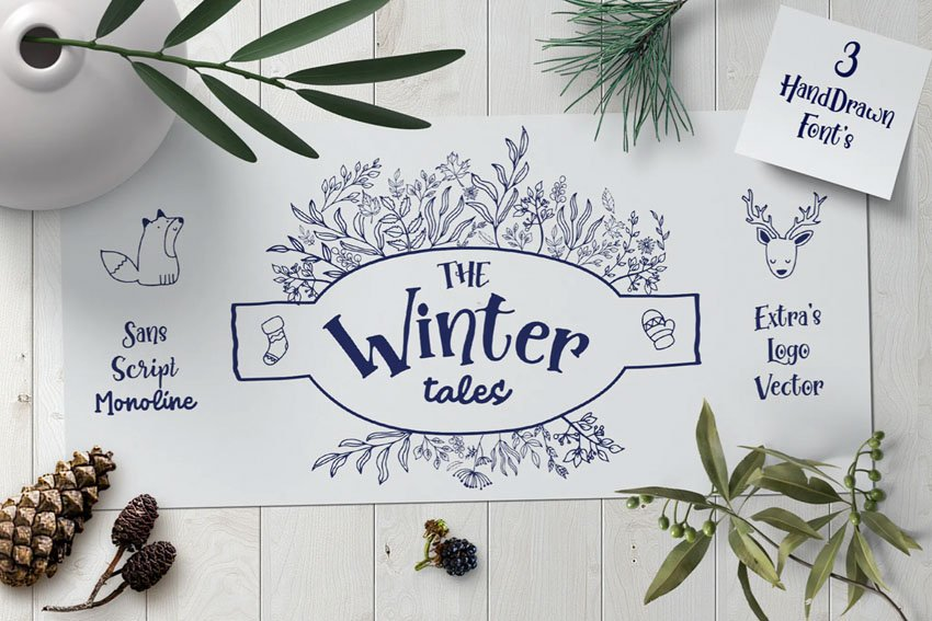 Winter Tales Font with Extras
