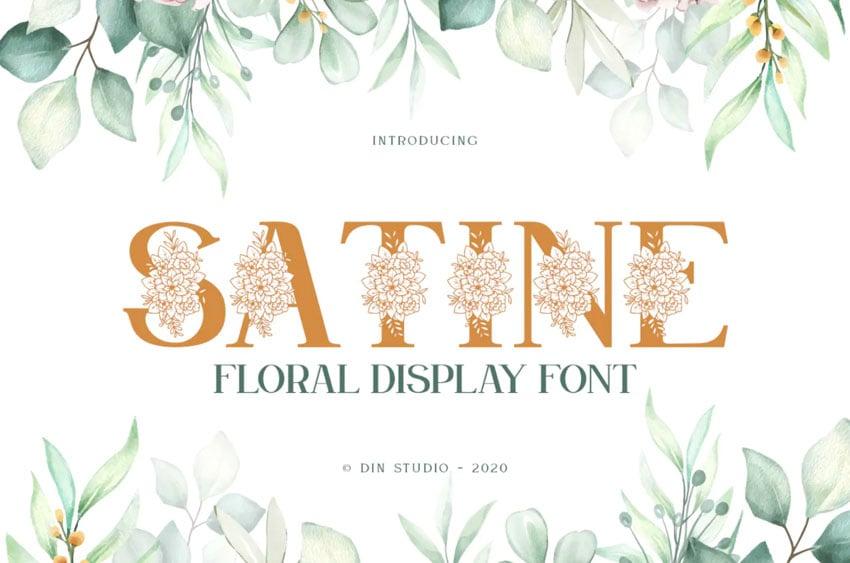 Satine Floral Display Font