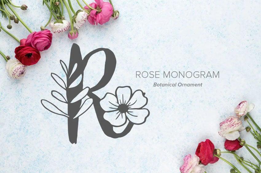 Rose Monogram