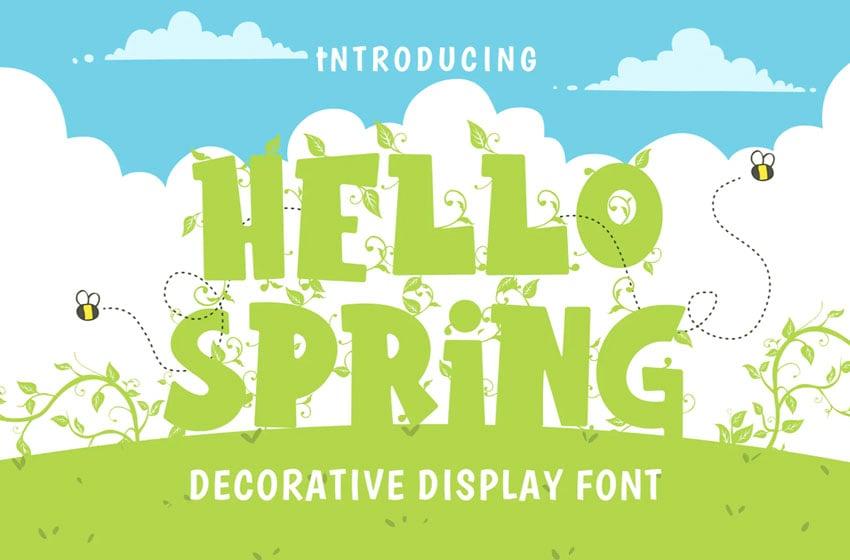 Hello Spring Font